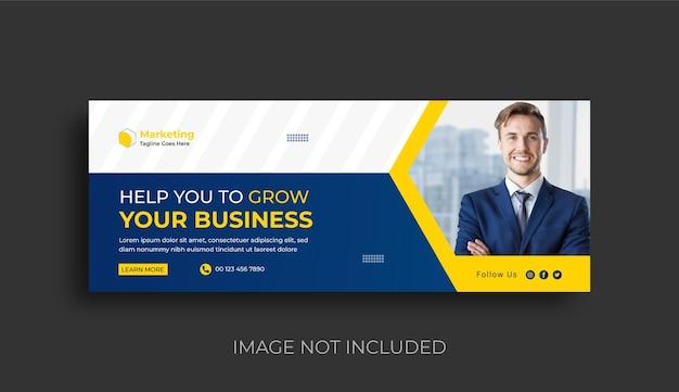 デジタルマーケティングエージェンシーとビジネスソーシャルメディアfacebookカバーバナーデザイン