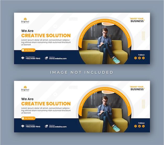 Агентство цифрового маркетинга и корпоративный бизнес флаер современная обложка facebook пост баннер в социальных сетях