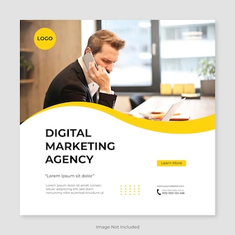 デジタルマーケティングエージェンシーと企業のソーシャルメディア投稿テンプレート