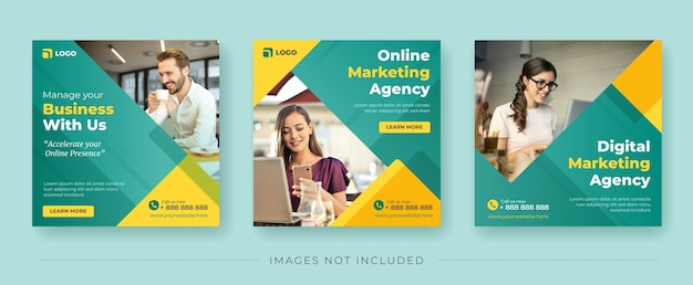 Digital marketing agency banner for social media post template