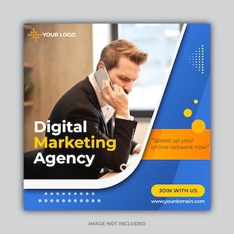 Digital marketing agency banner template premium