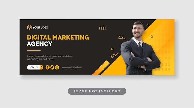 Шаблон баннера цифрового маркетингового агентства