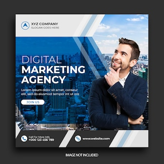 Шаблон баннера агентства цифрового маркетинга