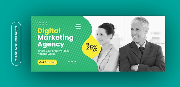 Digital marketing agency banner template