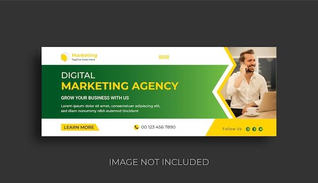 Digital marketing agency and business social media cover banner design