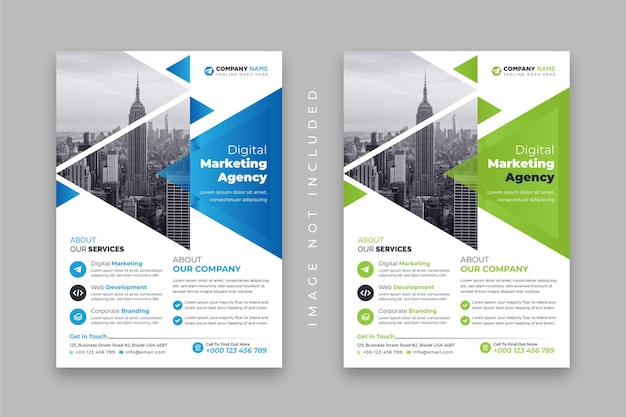 Digital marketing agency or corporate business flyer design template