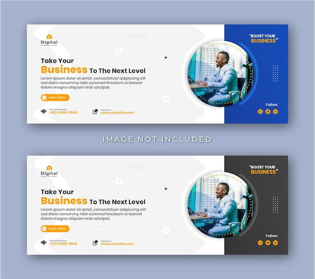 Digital marketing agency and corporate business flyer modern facebook cover social media post banner