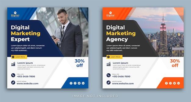 Digital marketing agency and elegant corporate business flyer, square social media instagram post template