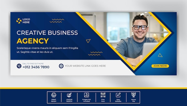 Digital marketing agency facebook cover template design