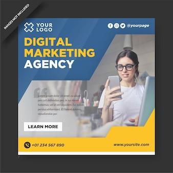 Агентство цифрового маркетинга instagram и шаблон социальных сетей