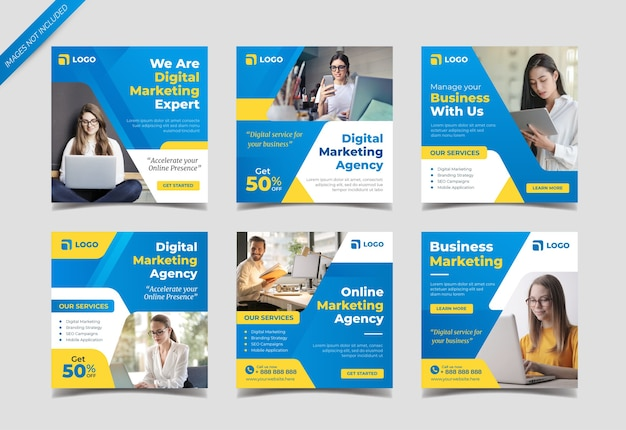 Digital marketing agency instagram post collection template