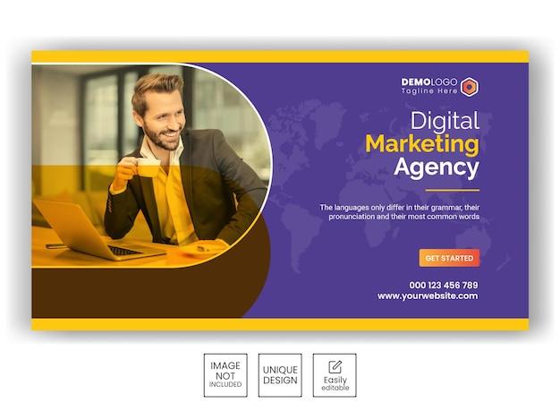 Digital marketing agency instagram post or square web banner template
