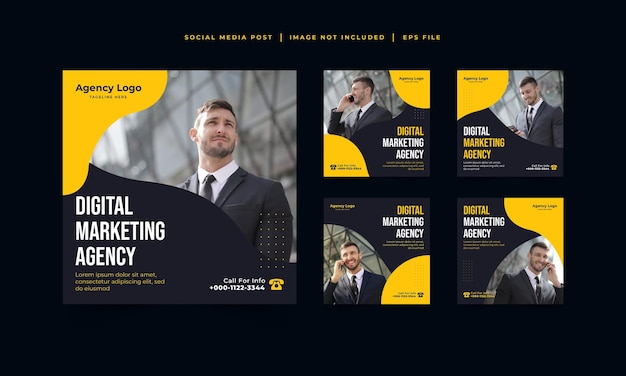 Digital marketing agency instagram post template