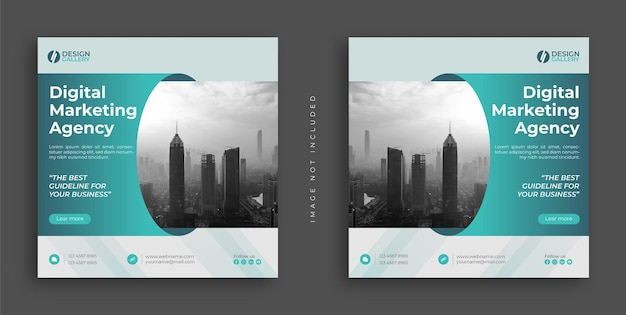 Digital marketing agency and modern creative web banner template design