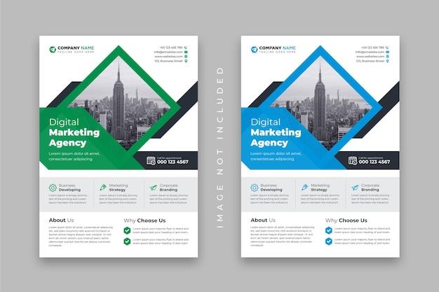Агентство цифрового маркетинга или шаблон оформления корпоративного бизнес-флаера