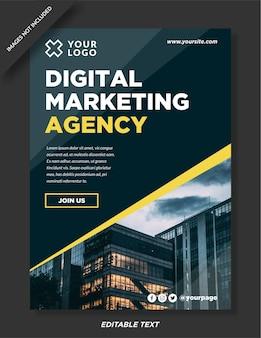 Дизайн шаблона плаката агентства цифрового маркетинга