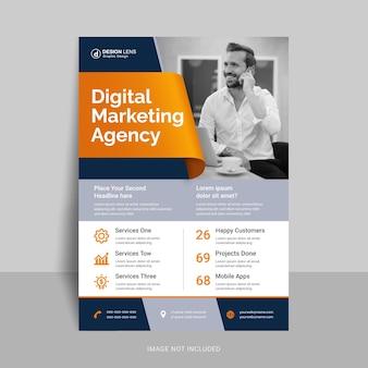 Digital marketing agency print ready flyer template