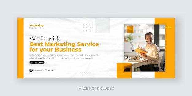 Digital marketing agency social media cover banner design template