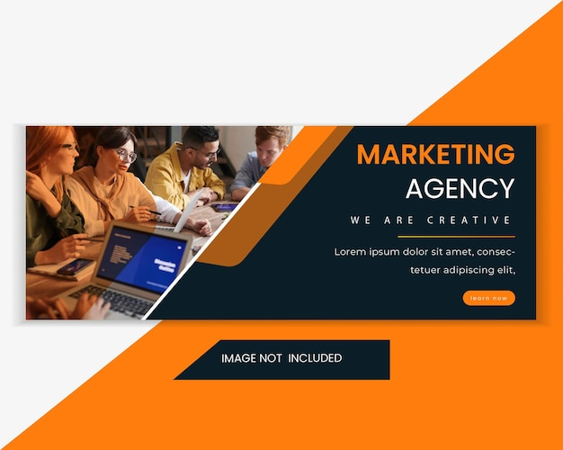 Digital marketing agency social media page cover and web banner template design