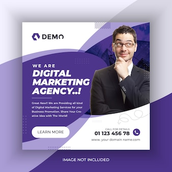 Digital marketing agency social media post banner