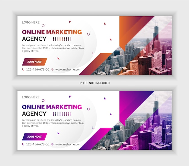Digital marketing agency social media post facebook cover and web banner