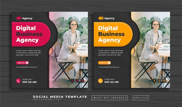 Digital marketing agency social media post template