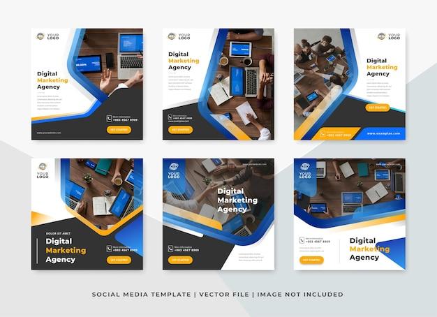디지털 마케팅 대행사 소셜 미디어 게시물 템플릿