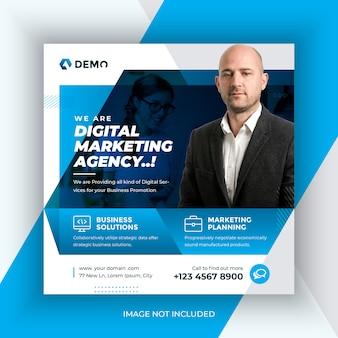 Агентство цифрового маркетинга почта в социальных сетях и веб-баннер