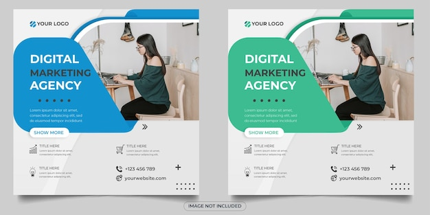 Сообщение агентства цифрового маркетинга в социальных сетях
