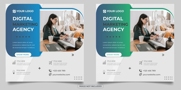 デジタルマーケティングエージェンシーのソーシャルメディア投稿