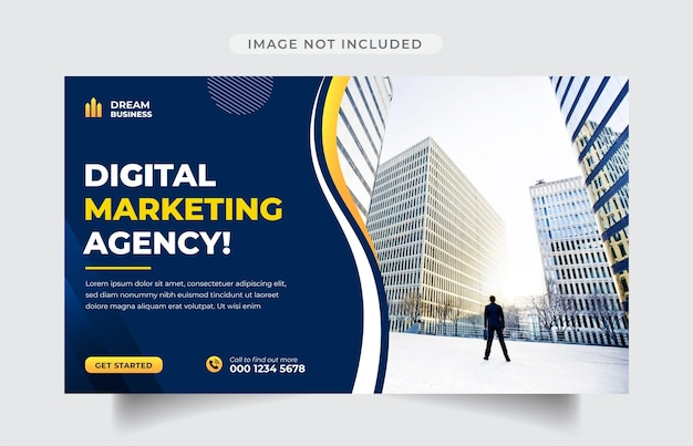 Digital marketing agency web banner  template