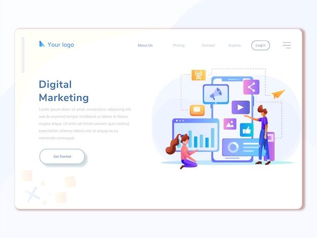 Digital marketing analyst landing page template