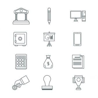 デジタルマーケティングとビジネスのアイコン