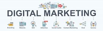 デジタルマーケティングのバナー
