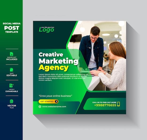 Digital marketing business agency social media post instagram banner