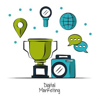 Digital marketing and business illustration