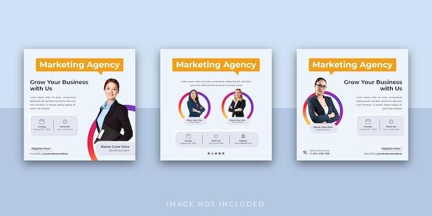 Бизнес-семинар по цифровому маркетингу шаблон сообщения в социальных сетях instagram