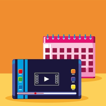 Digital marketing and calendar