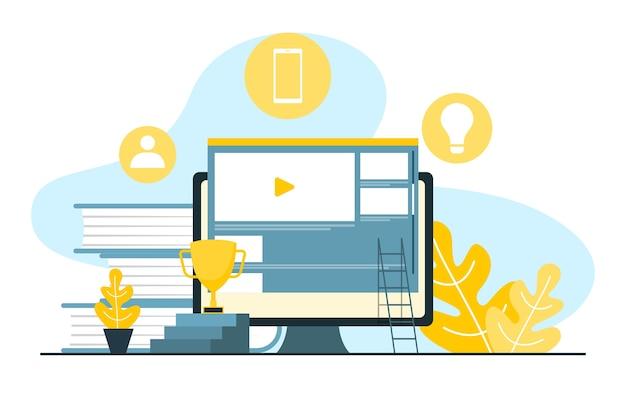 デジタルマーケティングコマースモバイルインターネットwebプロモーション分析図