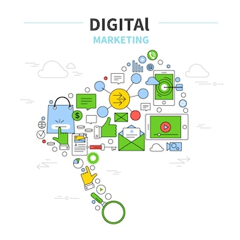 Concetto di marketing digitale