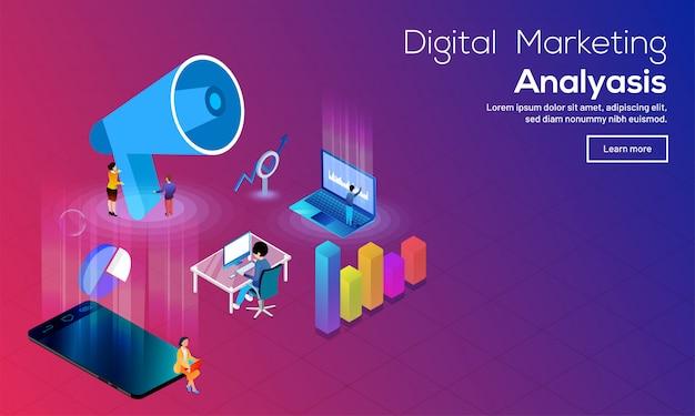 デジタルマーケティングのコンセプト。