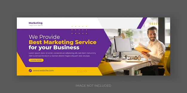 Digital marketing and corporate social media cover banner design template