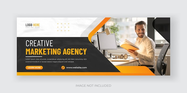 Digital marketing and corporate social media cover banner