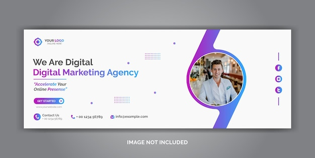 Шаблон обложки для корпоративных социальных сетей цифрового маркетинга