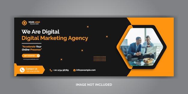 デジタルマーケティング企業ソーシャルメディアfacebookカバーテンプレート