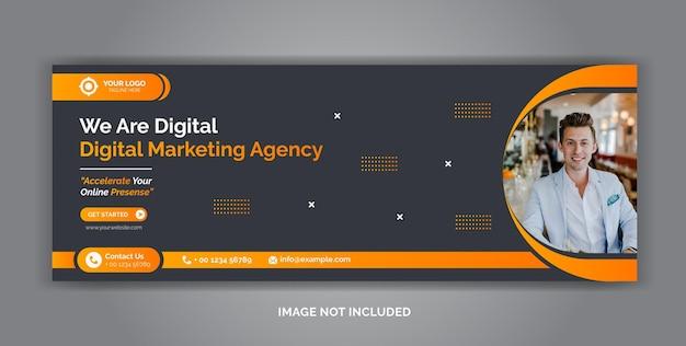 Digital marketing corporate social media facebook cover template