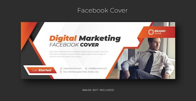 Шаблон обложки facebook для корпоративных социальных сетей
