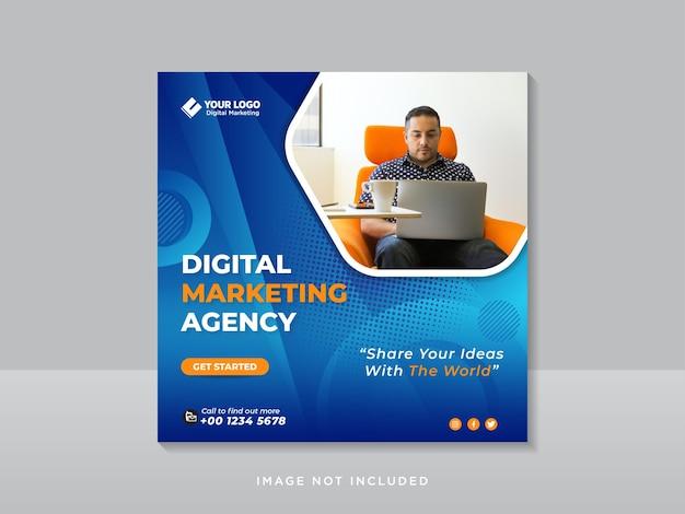 Digital marketing corporate social media and instagram post template