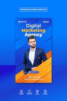 Digital marketing corporate social media and instagram story template premium vector