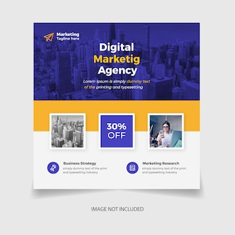 Digital marketing and corporate social media post template